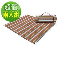 【韓國SELPA】防水雙面可用繽紛野餐墊/一般型(兩入組)