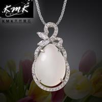 KMK天然寶石~葫蘆花~純正 天然白玉髓~項鍊