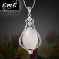 KMK天然寶石~寶瓶~純正 天然白玉髓~項鍊