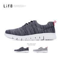 Life8- MIT。混色針織布。除臭鞋墊。越野運動鞋-黑色-09442