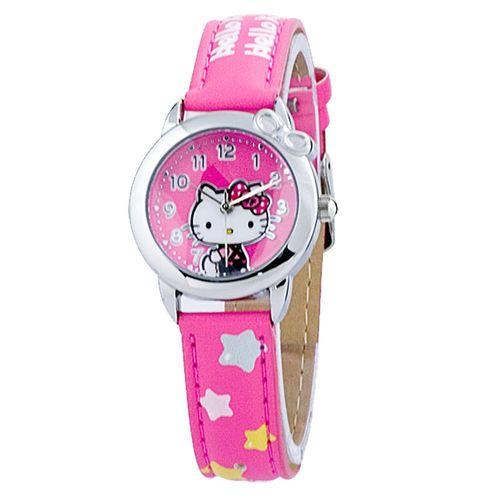 HELLO KITTY 星星時光卡通錶 粉紅色 28mm HKFR1363-01B