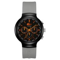 Lacoste 鱷魚 運動時尚計時腕錶 黑灰 44mm L2010655