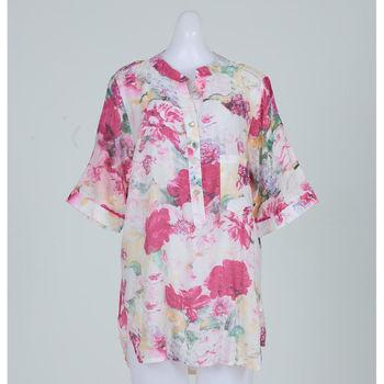 黛莉克絲渲染花卉絲棉長上衣