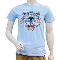 KENZO 老虎標誌印花圓領衫(水藍)