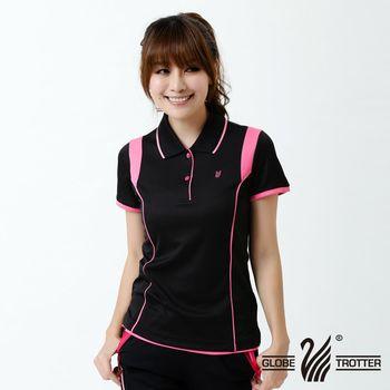 【遊遍天下】MIT女款吸濕排汗抗UV機能POLO衫S127(黑色)