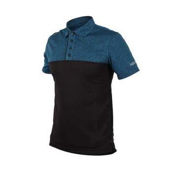 FIRESTAR 男短袖高爾夫球衫-POLO衫 短T T袖 網球 翻領短袖 麻花深藍