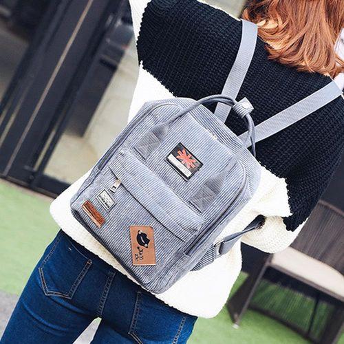 Acorn橡果-韓版休閒旅遊絨布後背包6314(灰色)