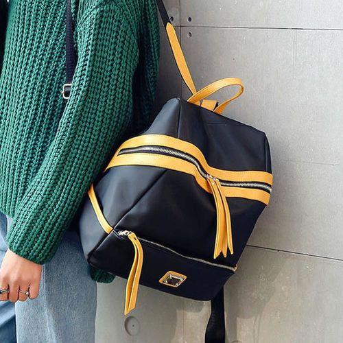 Acorn橡果-牛津布撞色休閒旅遊防水背包6313(黑色)