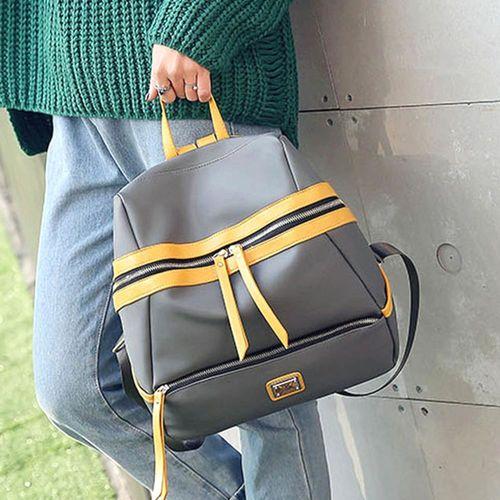 Acorn橡果-牛津布撞色休閒旅遊防水背包6313(灰色)