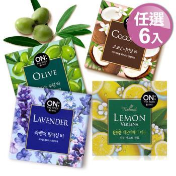 ON THE BODY 任選6入自然系療癒香皂(90g*6)