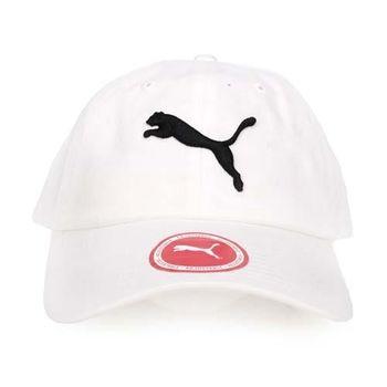PUMA 基本系列棒球帽-帽子 鴨舌帽 路跑 慢跑 遮陽 防曬 白黑