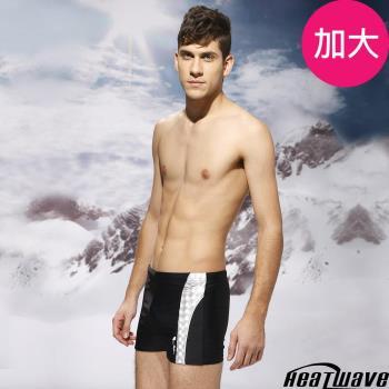 Heatwave熱浪 加大男泳褲 四角專業泳褲-時尚黑紳-149