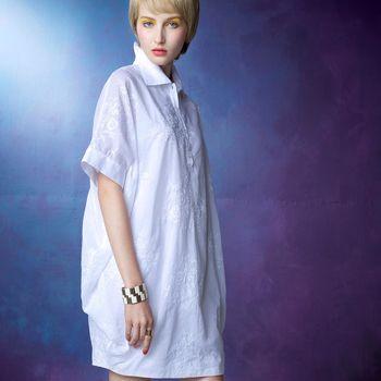 【龐吉 PANGCHI】印花長版襯衫洋裝