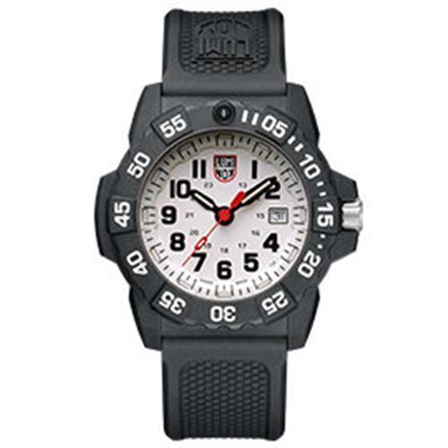 LUMINOX 雷明時NAVY SEAL 3500全新海豹2代系列腕錶-白x黑時標/45mm A3507