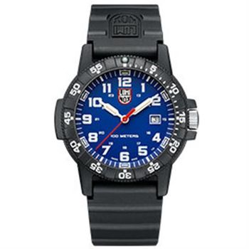LUMINOX 雷明時SEA TURTLE 0320海龜系列腕錶-藍x白時標/44mm A0323