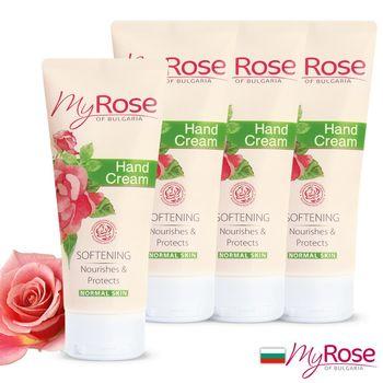 【保加利亞My rose】玫瑰保濕透白護手霜75ml超值四入