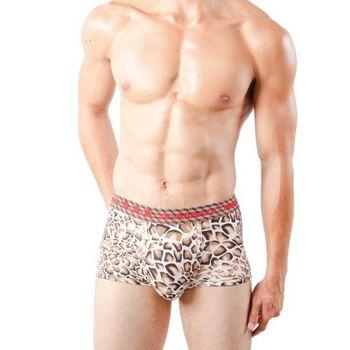 任-【3A-Alliance 】 男性動物紋系列四角內褲 M4005 咖啡色