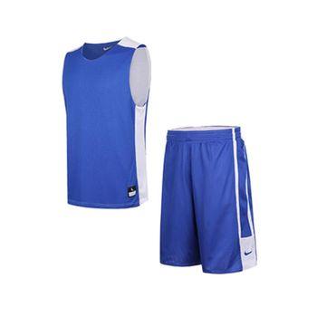 【NIKE】 631064/ 631065 - 494 寶藍色 雙面穿球衣球褲