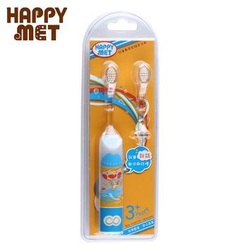 【BabyTiger虎兒寶】HAPPY MET 兒童教育型語音電動牙刷 (附替換刷頭X1) - 藍精靈款