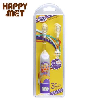 【BabyTiger虎兒寶】HAPPY MET 兒童教育型語音電動牙刷 (附替換刷頭X1) - 紫精靈款