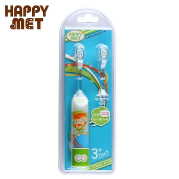 【BabyTiger虎兒寶】HAPPY MET 兒童教育型語音電動牙刷 (附替換刷頭X1) - 綠精靈款