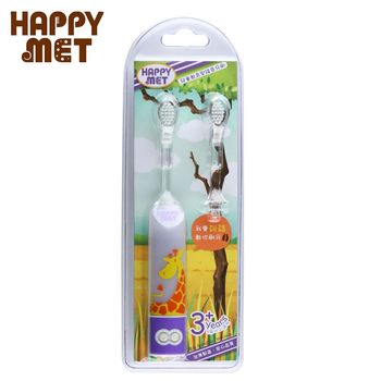 【BabyTiger虎兒寶】HAPPY MET 兒童教育型語音電動牙刷 (附替換刷頭X1) - 長頸鹿款