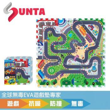 《SUNTA拼接樂扣墊》瘋狂賽車 EVA樂扣遊戲墊-32*32*1cm(9片裝)