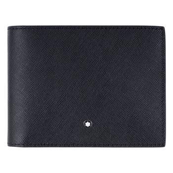 MONTBLANC 萬寶龍十字紋6+6卡可拆式牛皮短夾 116330