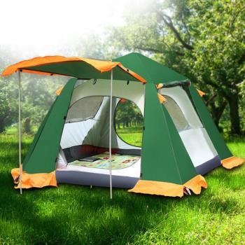 PUSH!戶外休閒登山用品 3~4人防水4000MM四季內外帳設計自動帳篷P95