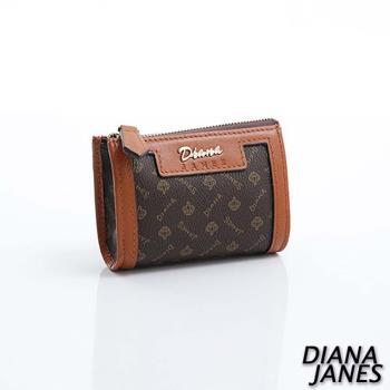 Diana Janes 經典LOGO 牛皮 造型零錢包
