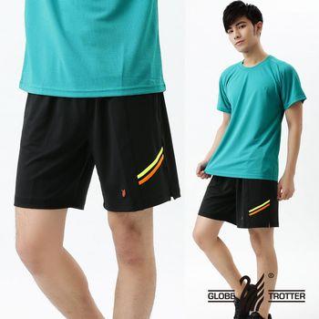 【遊遍天下】MIT台灣製男女款速乾吸濕排汗短褲P053A(黑色)