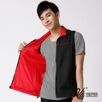 【遊遍天下】MIT台灣製中性款抗UV個性風格雙面穿背心T013(黑/紅)