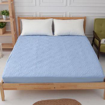 Ally 雙人加大床包式杜邦防潑水藍色保潔墊