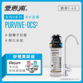 EVERPURE 愛惠浦公司貨 銀離子抑垢家用型淨水器(PURVIVE-OCS2)