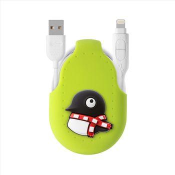 Bone / 二合一雙頭傳輸線(適用各型號手機) - 企鵝Maru