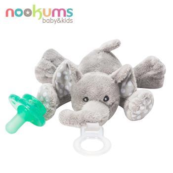 【美國nookums】寶寶可愛造型安撫奶嘴/玩偶-小灰象