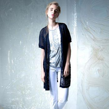 【龐吉 PANGCHI】夏日浪漫蕾絲短版罩衫