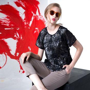 【龐吉 PANGCHI】夏日復古短版罩衫