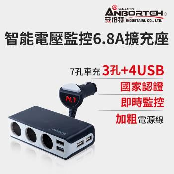 安伯特酷電大師智能電壓監控6.8A 7孔車充