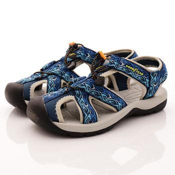 GOODYEAR-護趾運動涼鞋-MS73606藍(男段)