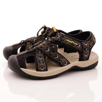 GOODYEAR-護趾運動涼鞋-MS73600黑(男段)
