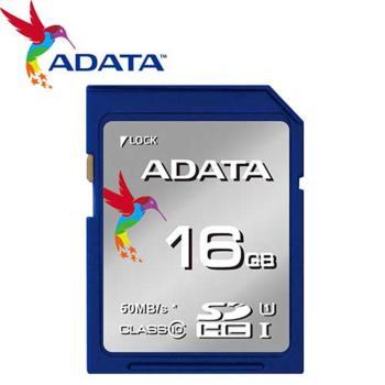 ADATA 威剛 16GB 16G 50MB/s SDHC SD UHS-I C10 記憶卡