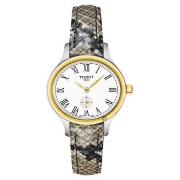 TISSOT 天梭 Bella Ora 臻時系列小秒針女錶 銀x金圈 27mm T1031102603300