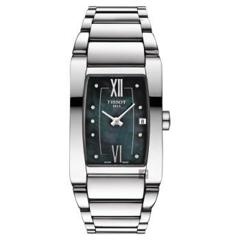 TISSOT天梭 GENEROSI-T 柔美雅典真鑽女錶 珍珠貝 24mm T1053091112600