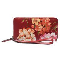 GUCCI Blooms系列經典牛皮掛腕式手提/手拿包(紅色)