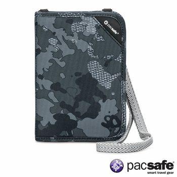 Pacsafe RFIDSAFE V150 防盜頸掛式護照皮夾(迷彩灰)(2080)