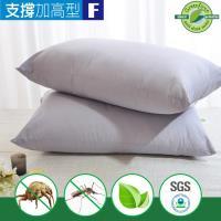 LooCa 法國防蹣防蚊技術竹炭枕-加高型2入(Greenfirst系列)