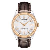 TISSOT天梭 Ballade COSC 80小時矽游絲機械腕錶 銀x咖啡 T1084082603700