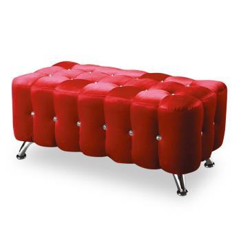 【時尚屋】[NM7]水鑽4尺絨布長椅NM7-295-2 三色可選/免組裝/免運費/椅凳