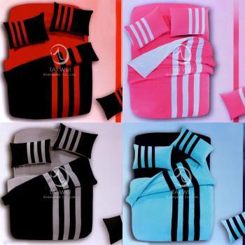 卡莎蘭 時尚運動風 雙人四件式被套床包組(8色任選)